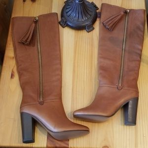 Coach Therese Tall Brown Leather Knee Boots Sz 5